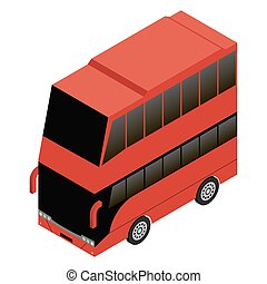 London double decker red icon vector illustration