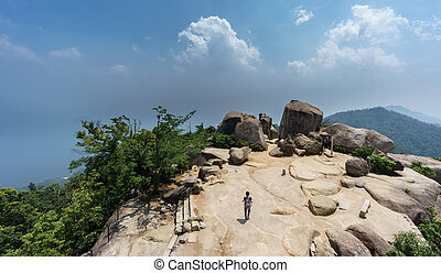 On top of miyajima - Viewpoint on top of miyajima island