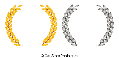 Award and ribbons - Award designs red shields with ribbons,...