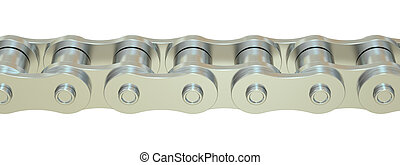 Bicycle Chain closeup, 3D rendering isolated on white...