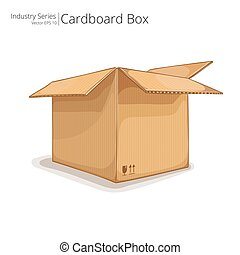 Cardboard Box. - Abstract open Cardboard Box. Front...