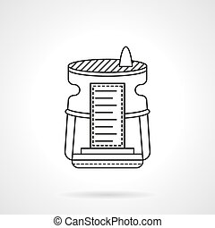 Humidifier device flat line vector icon - Equipment and...