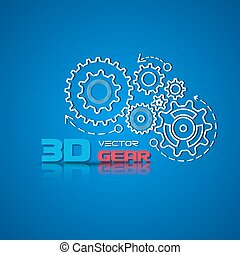 Abstract design template background with gears