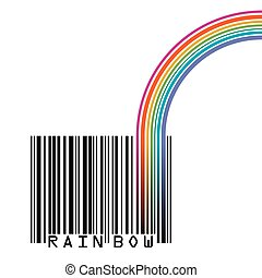 UPC barcode with  a rainbow