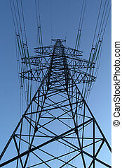 High Voltage Power Lines Pole Photo - High Voltage Power...