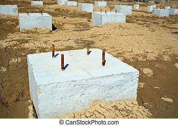 Concrete Foundation Construction Area Photo - Concrete...