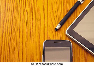 stylus, tablet and mobile - Mobile, stylus and tablet....