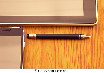 Mobile, stylus and tablet - Tablet, stylus and mobile....