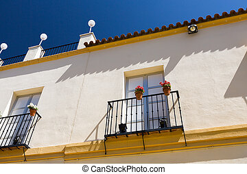 Classic Andalucian Spanish house at summer