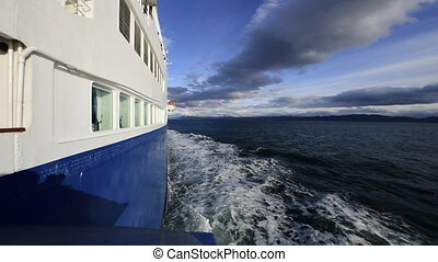 Beagle channel leaving the port - Beagle channel leaving the...