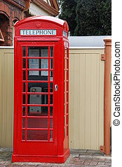 British telephone booth - typical red telephone booth