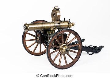 1883 Gatling Gun. - Model of a 1883 Hartford Gatling gun.