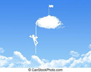 victory concept cloud shape