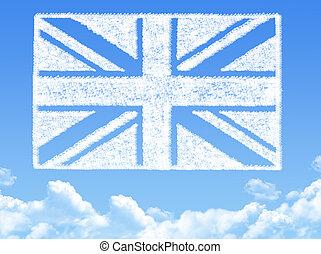 British flag cloud shape