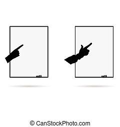 finger on board illustration