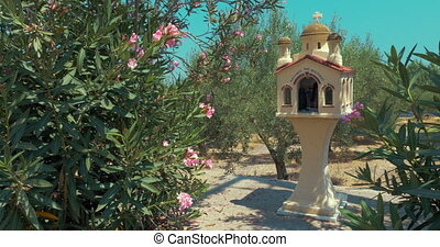 Traditional Memorial Chapel Kandylakia in Greece -...
