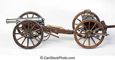 1861 Dahlgren Cannon and limbert cart - Model of a 1863...