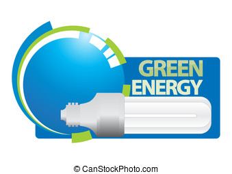 Green energy - Vector illustration for sustainable energy...