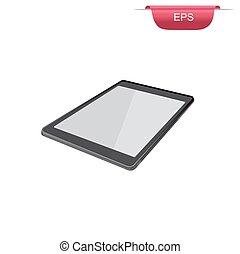 digital tablet design element,  vector illustration