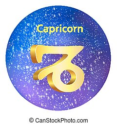 Sign of the zodiac Capricorn is the starry sky, vector...