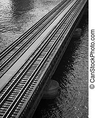 Railroad tracks on St Johns River - Railroad tracks over...