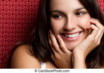 Smiling Woman - Smiling beautiful young woman
