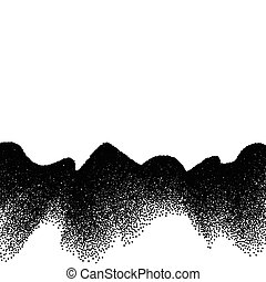 Abstract background with wave of scattered dots - Abstract...