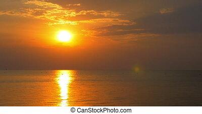 Amazing seascape at sunset