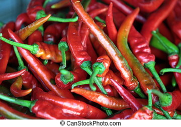 ASIA BRUNEI DARUSSALAM - chili at the market in the city of...