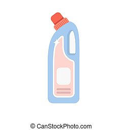 Detergent bottle vector illustration. Flat cleaning agent....