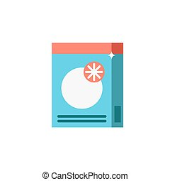 Powder detergent or washing powder vector icon for hand washing or in a washing machine