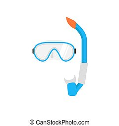 Diving Mask and snorkel vector illustration. Swimming mask....