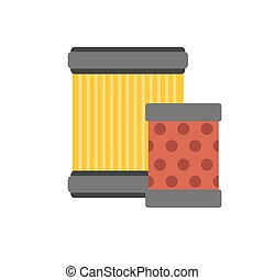Car air filter flat vector icon Service car parts