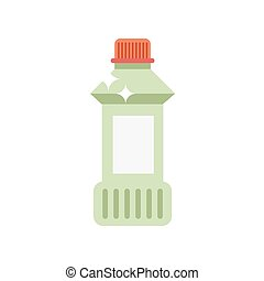 Detergent bottle vector illustration Flat cleaning agent...
