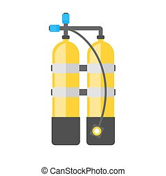 Scuba vector illustration. Diving equipment vector sign....