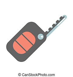 Car ignition key - Car key vector icon Car ignition key with...