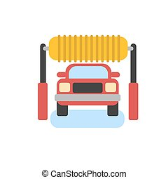 Car automatic wash icon. Car cleaning. Car wash vector icon....