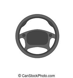 Car steering wheel vector icon Car steering leather material...