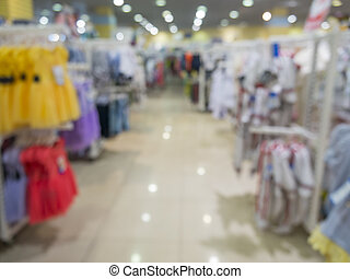 Blurred kids wear of departament store - Abstrackt blurred...