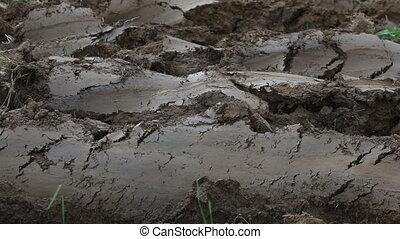 Plowed Land Soil - Plowed Cultivated Loam Soil Field