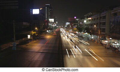 Bangkok city  timelapse with tilt-shift lens