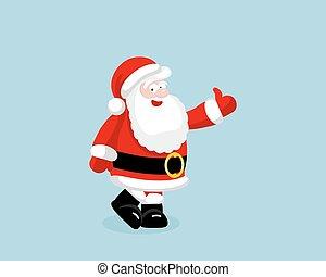 Santa Claus showing thumb up