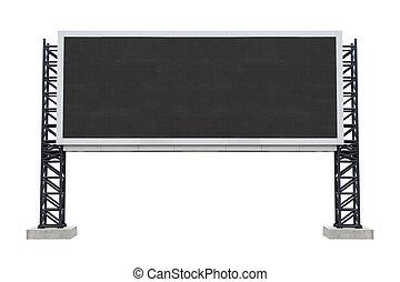 Large scoreboard stadium isolated on white background. use...