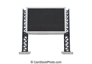 Mini scoreboard center stadium isolated on white background...