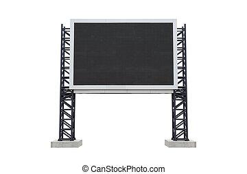 Mini scoreboard center stadium isolated on white background....