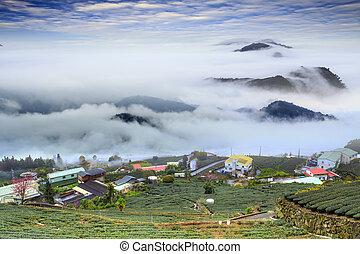 Alishan,Chiayi County,Taiwan:Sunset clouds - The...