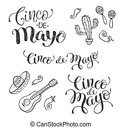 Cinco de mayo phrases - Hand written phrases for Mexican...