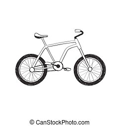 Hand drawn bycicle icon - Hand drawn bike icon Bicycle...