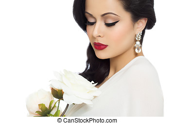 Beautiful Bride With White Peonies - Beautiful dreamy bride...