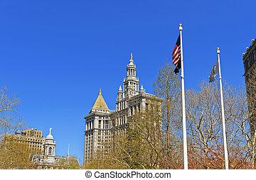 Manhattan Municipal Building of Lower Manhattan